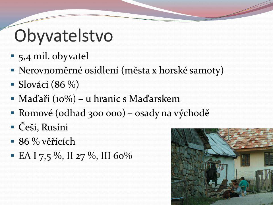 Zemědělství  Podunajská a Východoslovenská nížina  Teplomilné ovoce a zelenina  Papriky, rajčata, melouny, broskve  Salašnictví v podhorských oblastech (ovce)