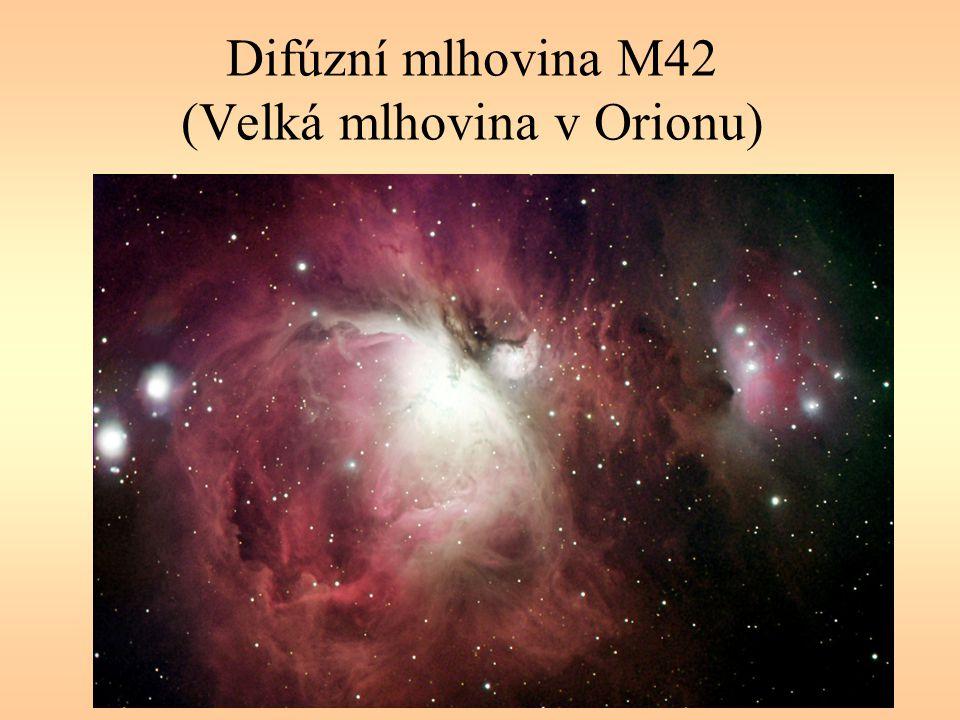 Difúzní mlhovina M42 (Velká mlhovina v Orionu)