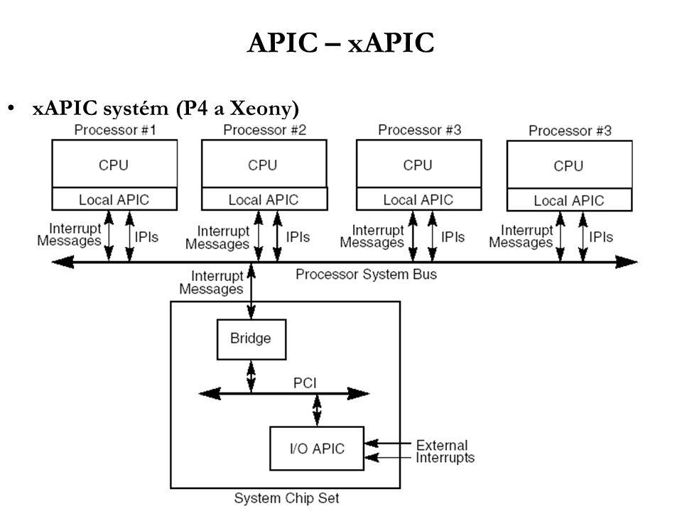 APIC – xAPIC xAPIC systém (P4 a Xeony)