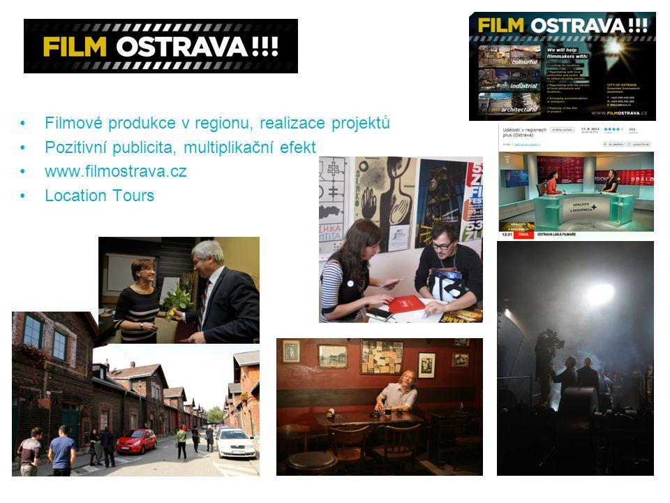 Filmové produkce v regionu, realizace projektů Pozitivní publicita, multiplikační efekt www.filmostrava.cz Location Tours