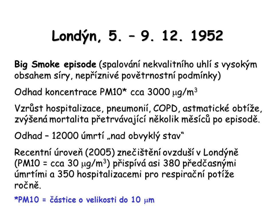 Imisní limity základních kontaminant ovzduší Znečišťující látka Doba průměrování Imisní limit [µg.m -3 ] Případná četnost překročení za kalendářní rok Oxid siřičitý1 hodina35024 24 hodin1253 Oxid uhelnatý maximální denní osmihodinový průměr 10 000 - PM 10 24 hodin5035 1 kalendářní rok40- Olovo1 kalendářní rok0,5- Oxid dusičitý1 hodina20018 1 kalendářní rok40- Benzen1 kalendářní rok5-