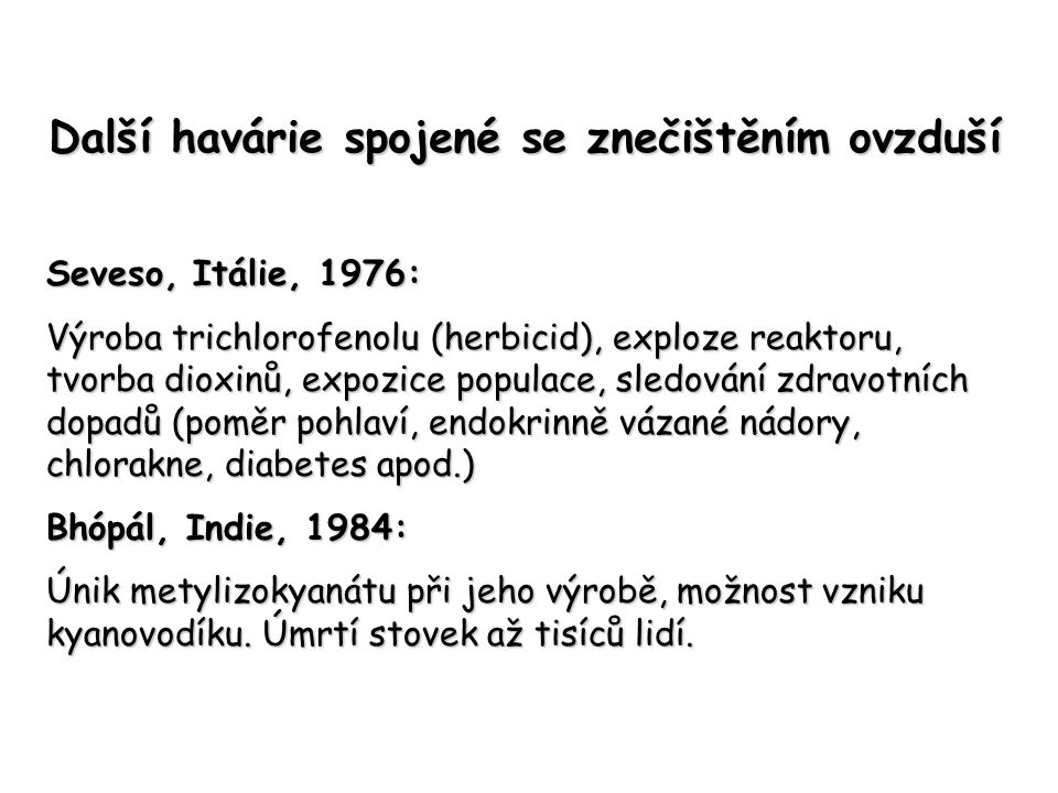 Znečištění ovzduší – situace v České republice Po 1989 – programy s mezinárodní účastí Program Teplice – od r.