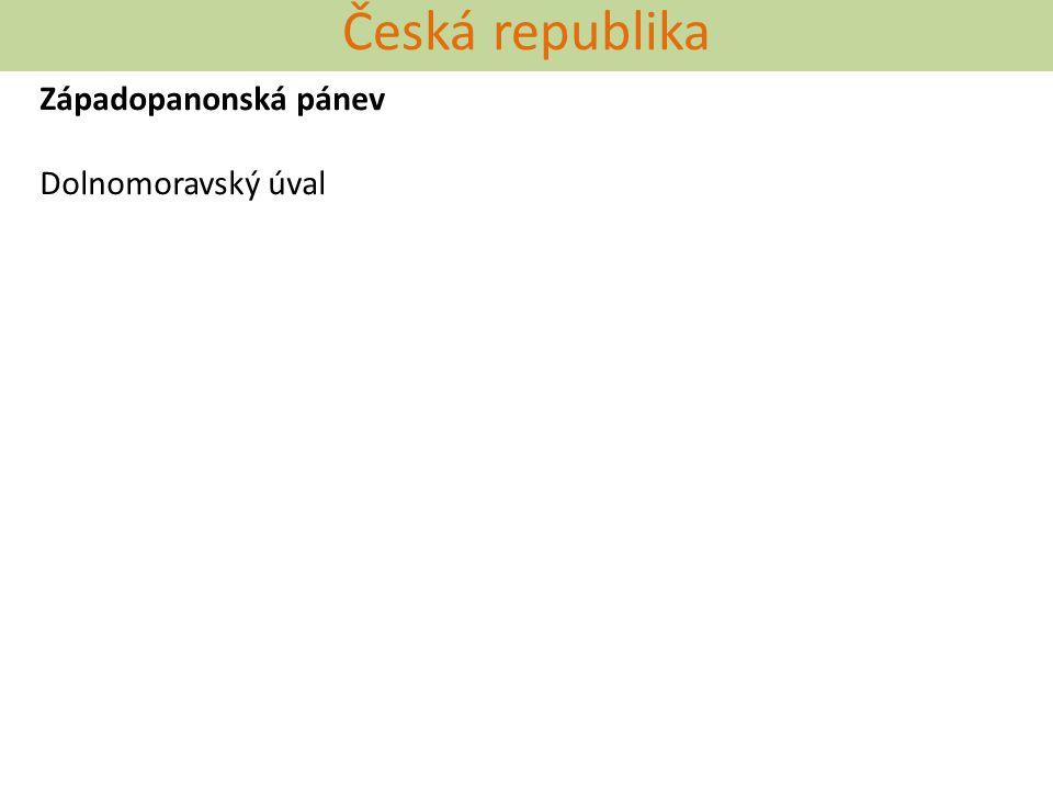 Česká republika Západopanonská pánev Dolnomoravský úval