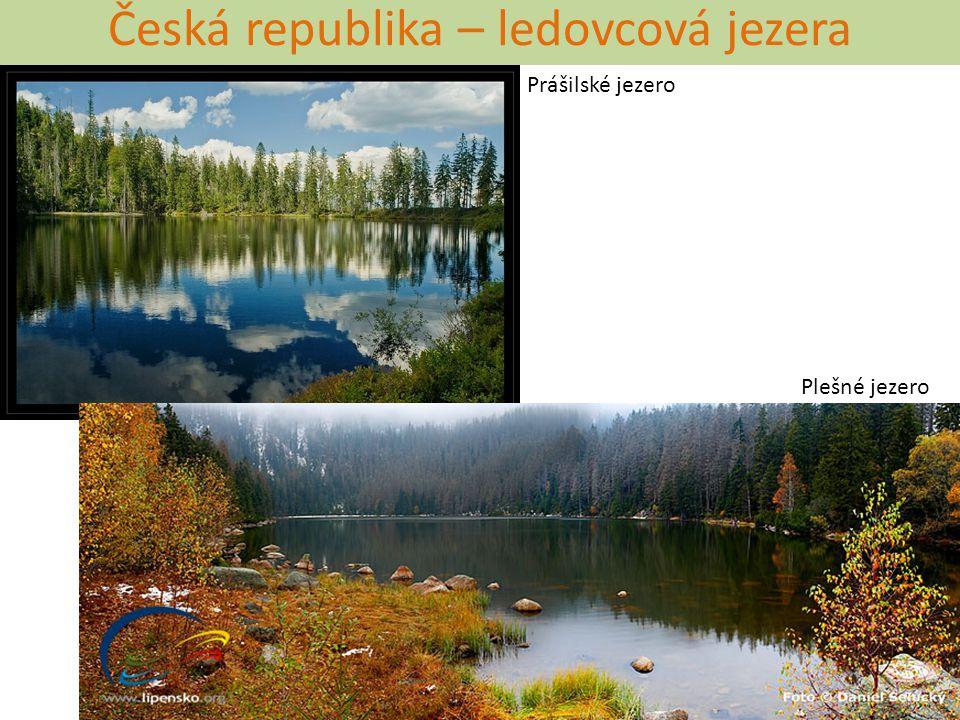 Česká republika – pozůstatky doby ledové Lužnice u Bechyně Dyje u Znojma Kunčický bludný balvan