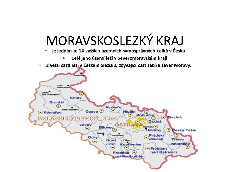 Rozloha=5427 km² Počet obyvatel=1230613 Počet okresů=6 Sídlo=Ostrava Obyvatelstvo=Kraj má třetí nejvyšší počet obyvatel ze všech českých krajů a po Praze nejvyšší hustotu zalidnění, vysoce převyšující republikový průměr.