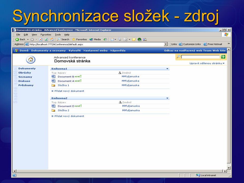 Synchronizace složek - zdroj