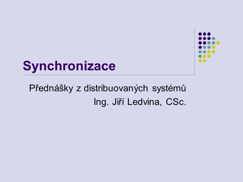 Synchronizace Přednášky z distribuovaných systémů Ing. Jiří Ledvina, CSc.