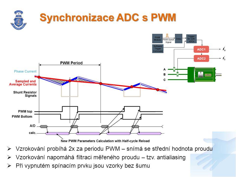 Přerušení vyvolávaná ADC  Každý kanál převodníku ADC_A má svůj vlastní programovatelný High limit registr, Low limit registr a zero-crossing registr, které při rovnosti hodnot vyvolá přerušení  Na konci převodu všech 8 kanálu z převodníku ADC_A i ADC:B je rovněž umožněno vyvolat přerušení  ADC umožňuje vyvolávat tato přerušení bez zásahu mikroprocesoru