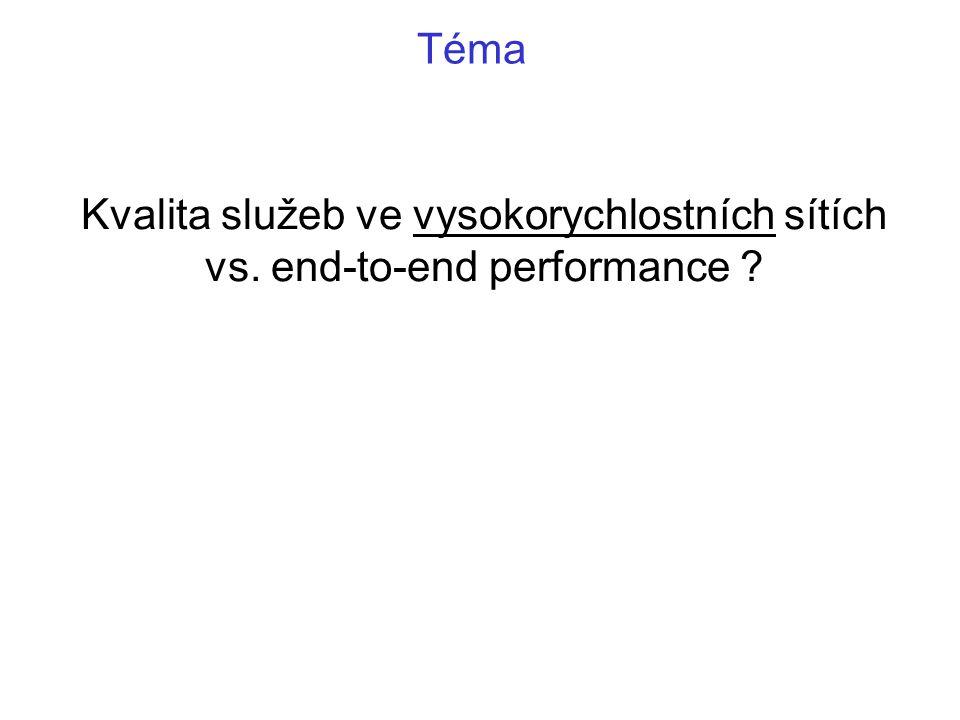 Kvalita služeb ve vysokorychlostních sítích vs. end-to-end performance Téma
