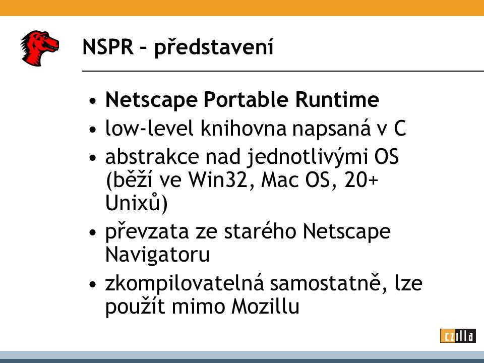 NSPR – co umí.portabilní datové typy a makra (např.