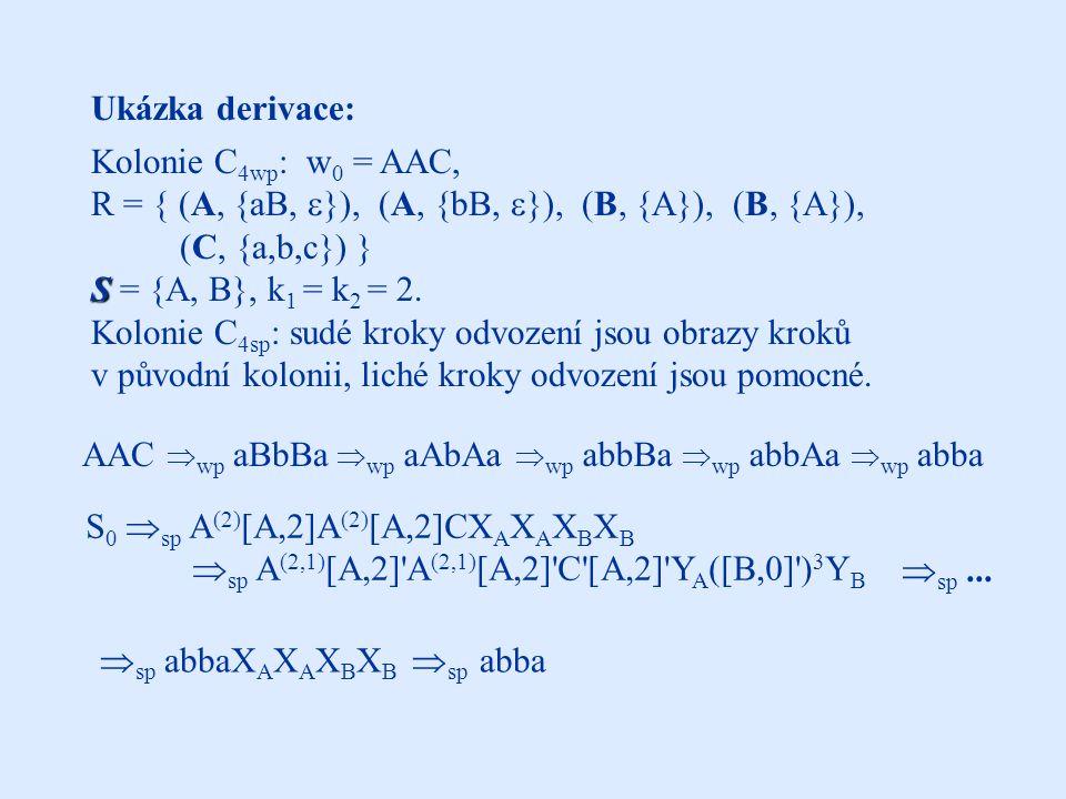 Řešení : Čekající symboly nebudou zablokovány, pokud se ve slově nacházejí symboly [S j,k] .