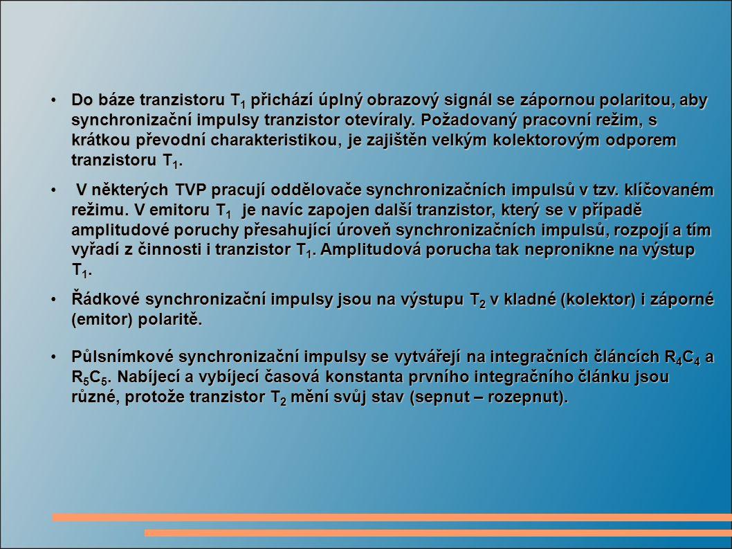 Generátory pro vertikální rozklad pracují s přímou synchronizací a jsou tedy přímo spouštěny půlsnímkovými synchronizačními impulsy.
