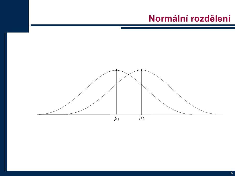 17 Testování hypotéz p-value ≤ α … Zamítáme nulovou hypotézu.