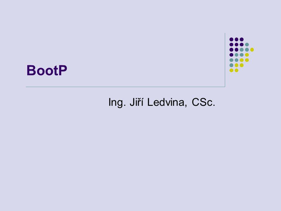 BootP Ing. Jiří Ledvina, CSc.