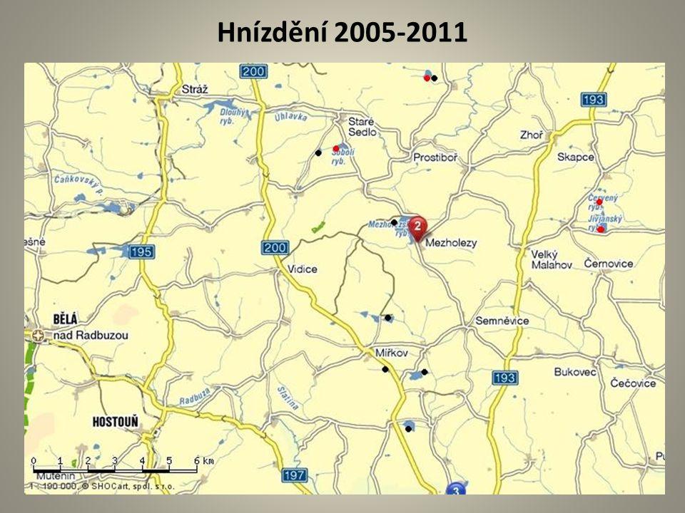 Hnízdění 2005-2011