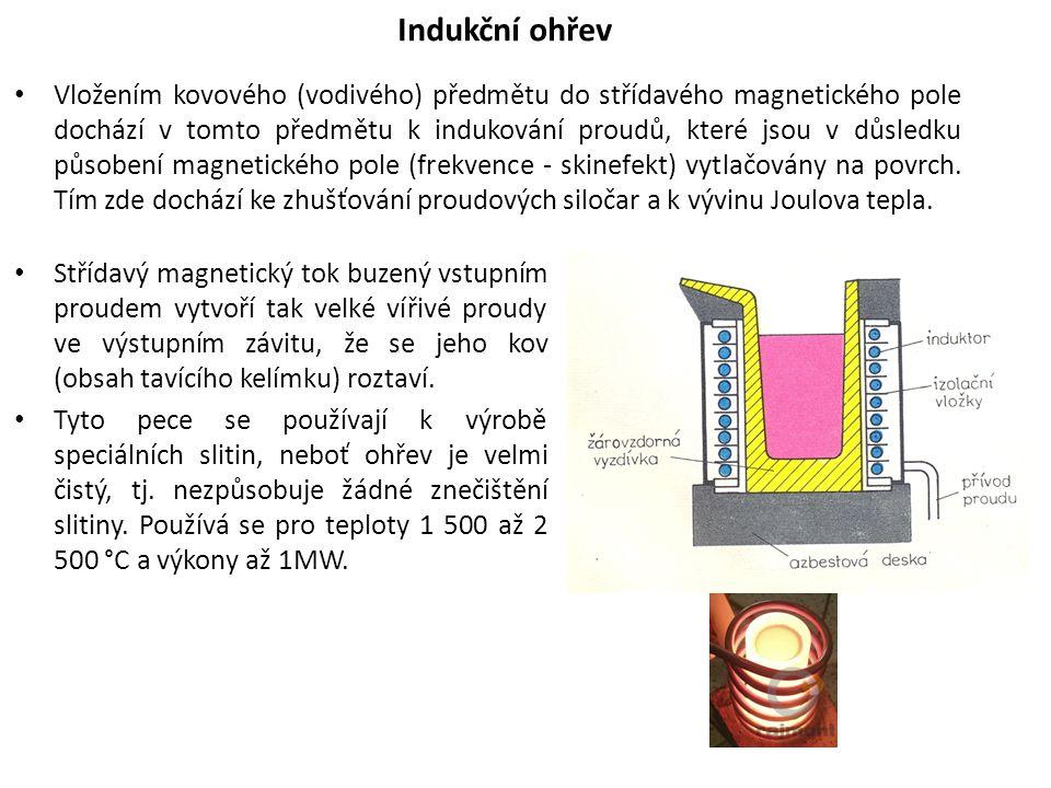 Vložením kovového (vodivého) předmětu do střídavého magnetického pole dochází v tomto předmětu k indukování proudů, které jsou v důsledku působení mag