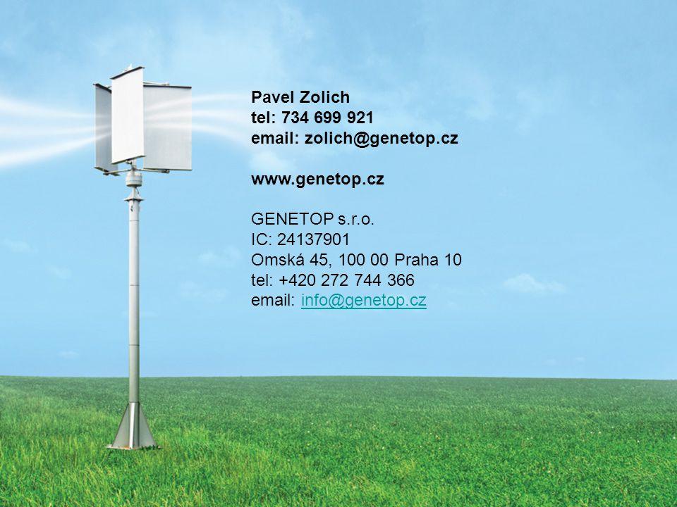 Pavel Zolich tel: 734 699 921 email: zolich@genetop.cz www.genetop.cz GENETOP s.r.o.