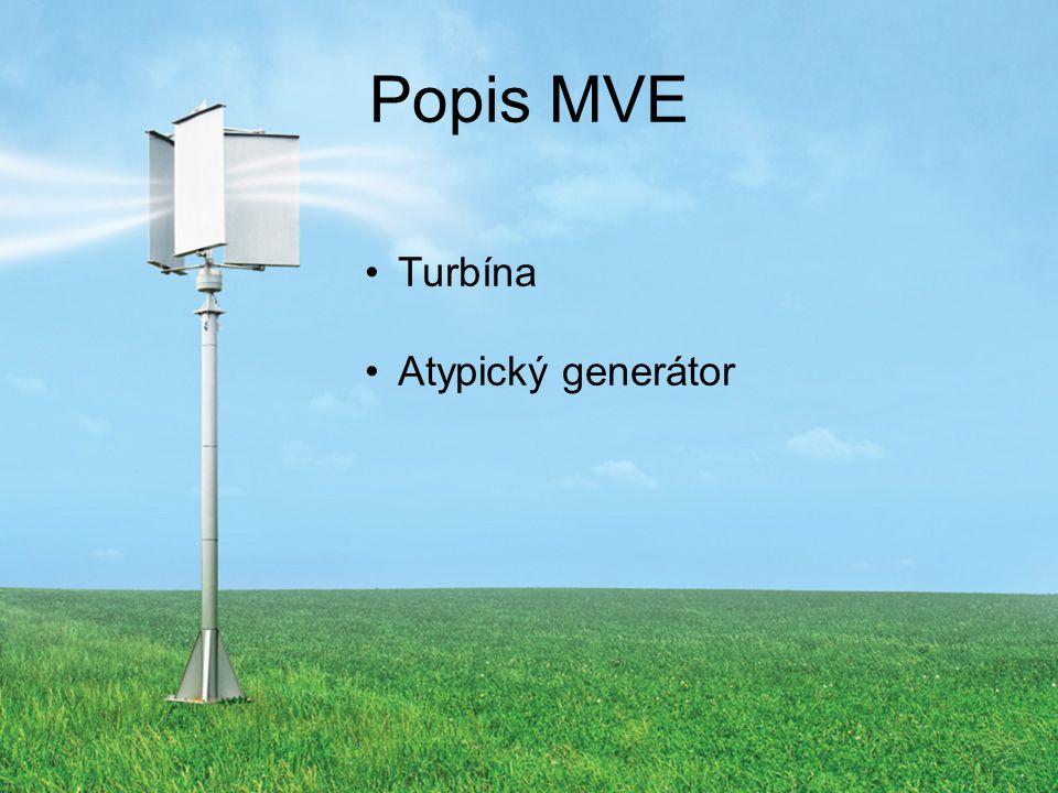 Popis MVE Turbína Atypický generátor