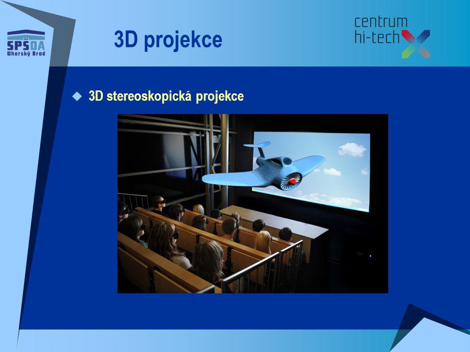 3D projekce  3D stereoskopická projekce