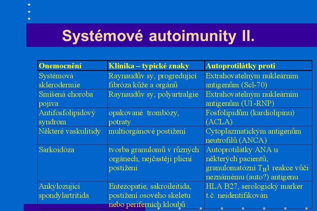 Systémové autoimunity II.