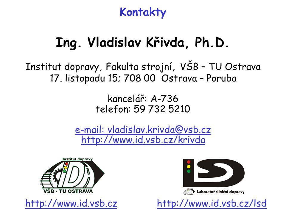 Institut dopravy, Fakulta strojní, VŠB – TU Ostrava 17. listopadu 15; 708 00 Ostrava – Poruba kancelář: A-736 telefon: 59 732 5210 e-mail: vladislav.k
