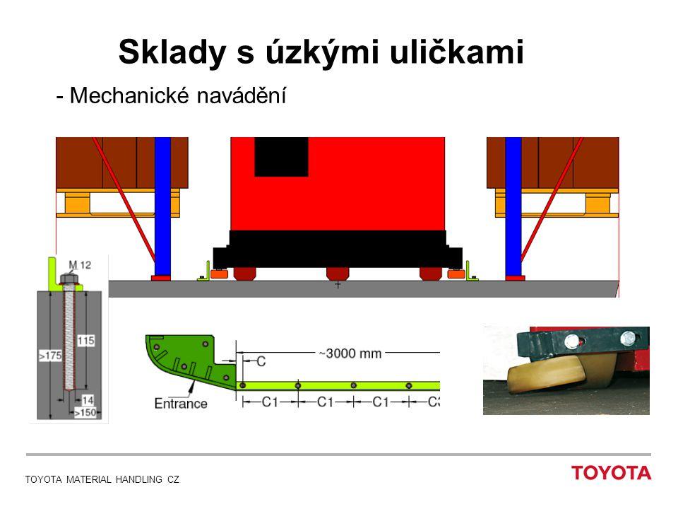 TOYOTA MATERIAL HANDLING CZ Sklady s úzkými uličkami - Mechanické navádění