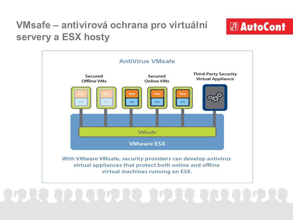 VMsafe – antivirová ochrana pro virtuální servery a ESX hosty