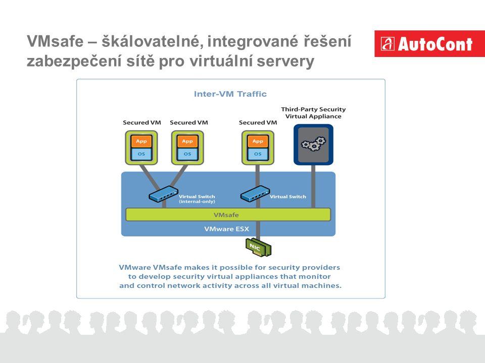 VMsafe – škálovatelné, integrované řešení zabezpečení sítě pro virtuální servery
