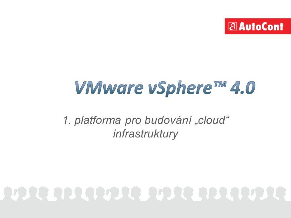 """1. platforma pro budování """"cloud infrastruktury"""