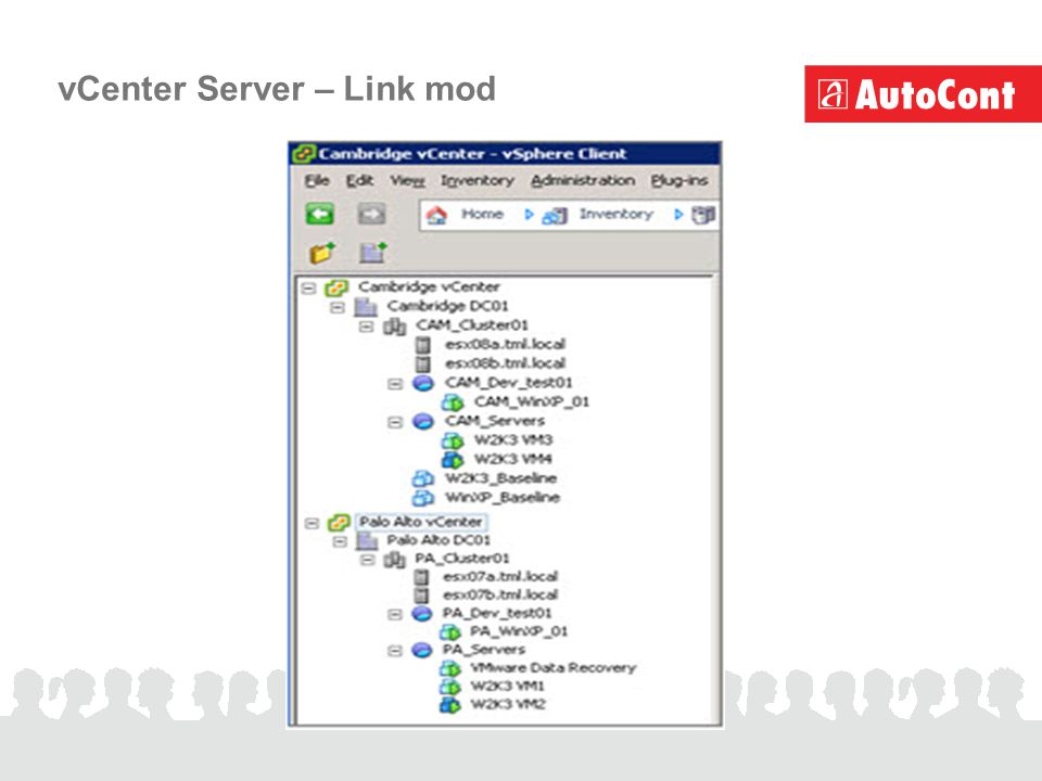 vCenter Server – Link mod