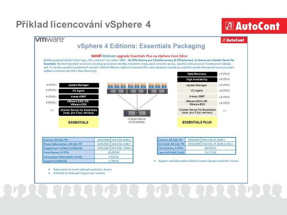 Příklad licencování vSphere 4