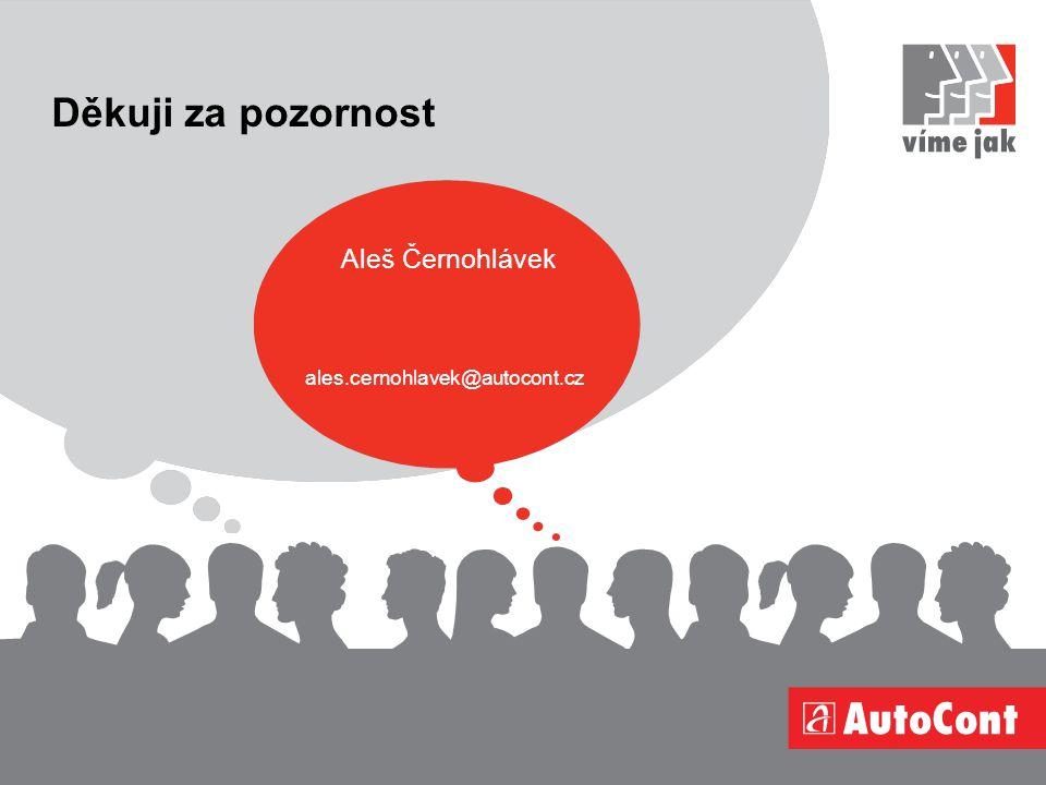 Děkuji za pozornost Aleš Černohlávek ales.cernohlavek@autocont.cz