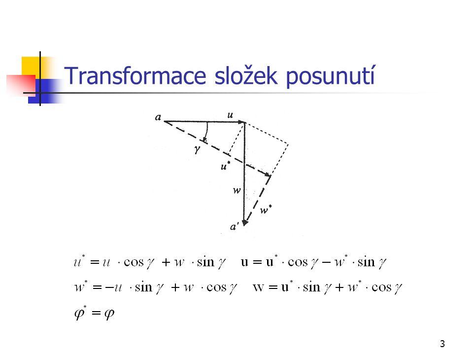 3 Transformace složek posunutí
