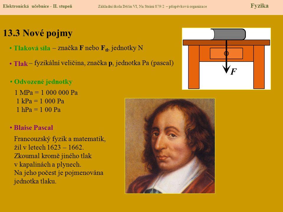 13.4 Výklad nového učiva Elektronická učebnice - II.