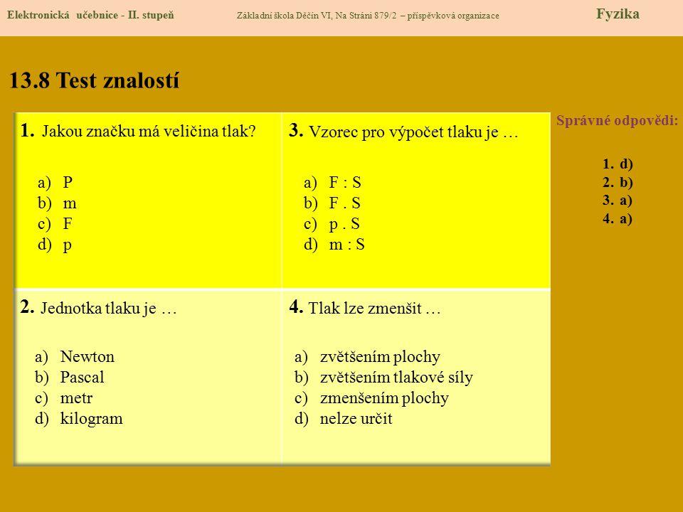 13.9 Použité zdroje Elektronická učebnice - II.