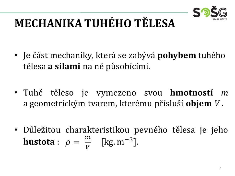 MECHANIKA TUHÉHO TĚLESA 2