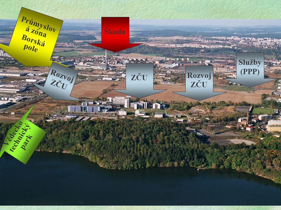 F.Ježek35 Škoda Průmyslov á zóna Borská pole ZČU Služby (PPP) Rozvoj ZČU Vědecko technický park Rozvoj ZČU