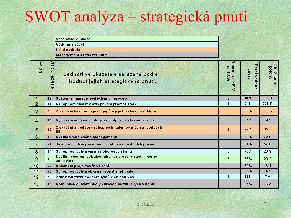 F.Ježek7 SWOT analýza – strategická pnutí