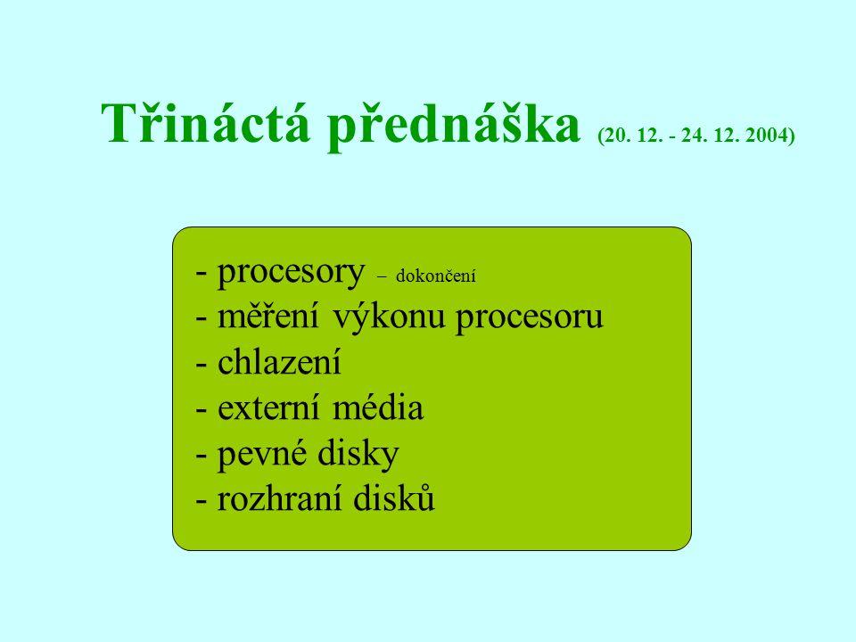 Třináctá přednáška (20. 12. - 24. 12.