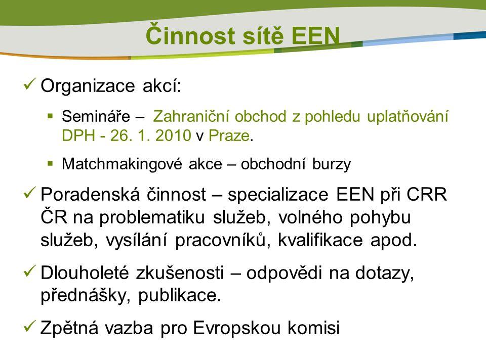 Organizace akcí:  Semináře – Zahraniční obchod z pohledu uplatňování DPH - 26.