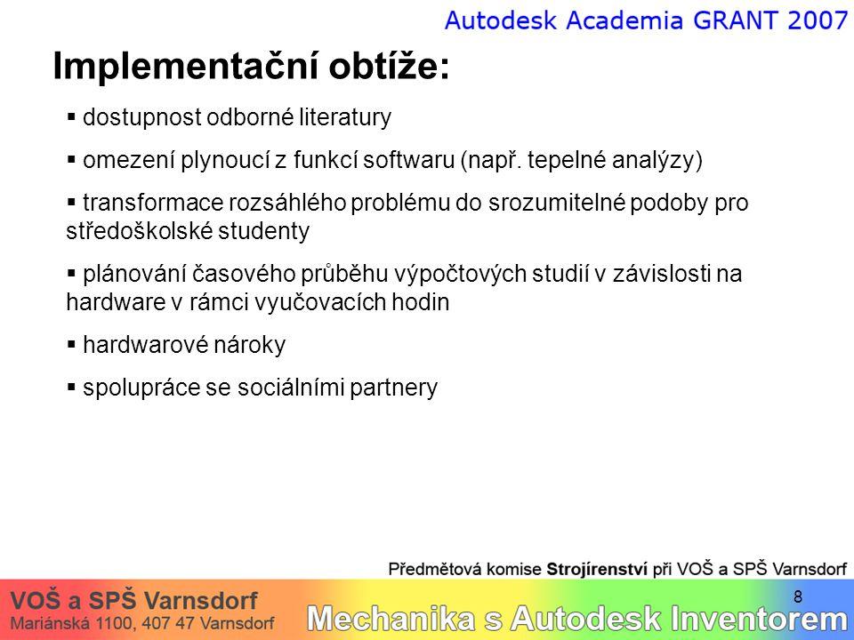 9 Výstupy přednášky a závěrečná diskuse  shrnutí získaných poznatků a zkušeností  využití pro potřeby VOŠ a SPŠ Varnsdorf Závěrečná diskuse, dotazy