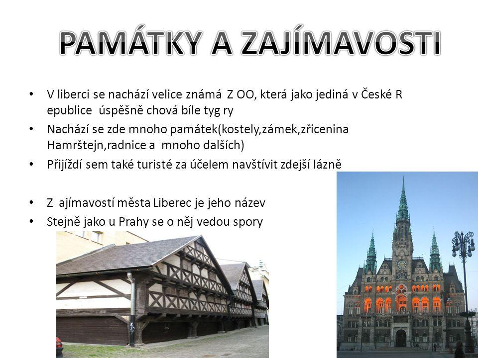 Město Liberec leží v Liberecké kotlině Žitavké pánve Z důvodu jeho polohy jsou zde velice časté srážky Žije zde asi 100 000 obyvatel Velké soustředění hospodářství především strojírenství a ve 20.