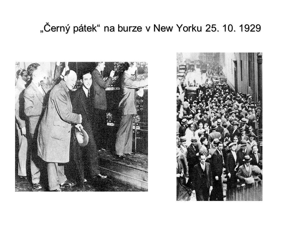"""""""Černý pátek"""" na burze v New Yorku 25. 10. 1929"""