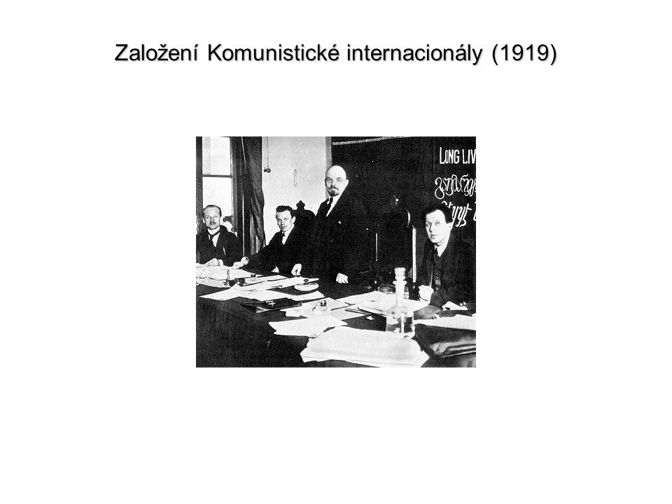 Založení Komunistické internacionály (1919)