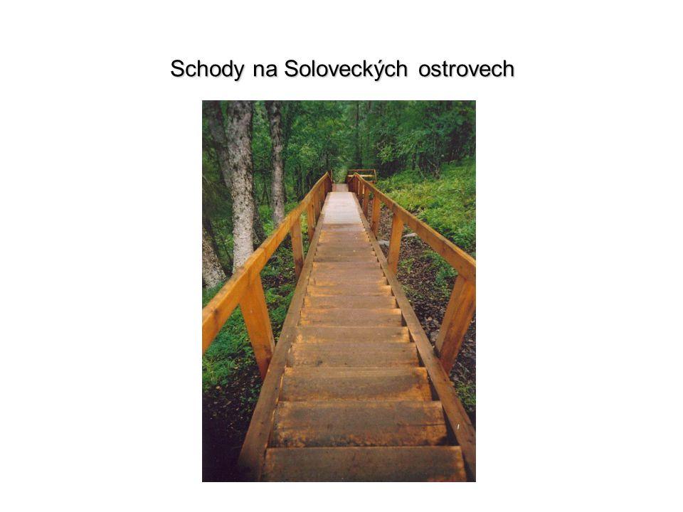 Schody na Soloveckých ostrovech