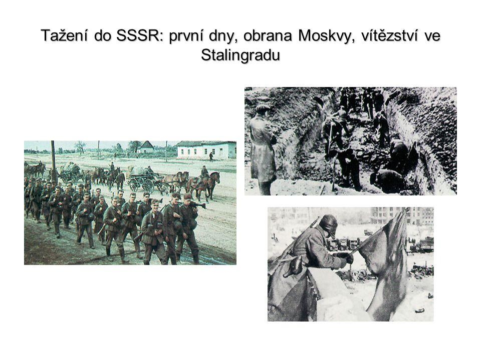 Tažení do SSSR: první dny, obrana Moskvy, vítězství ve Stalingradu