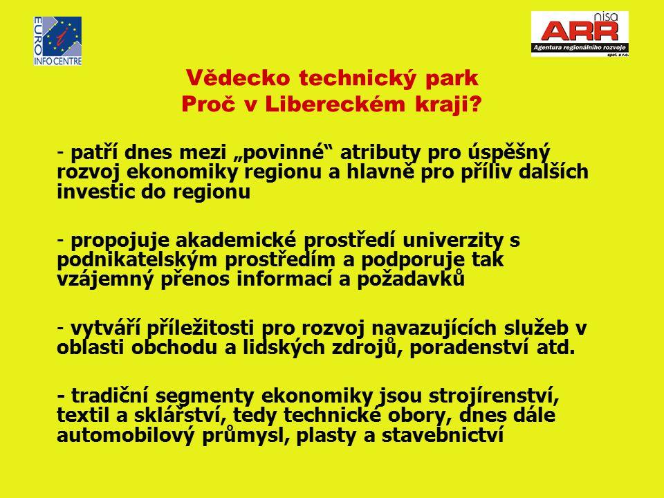Vědecko technický park Proč v Libereckém kraji.