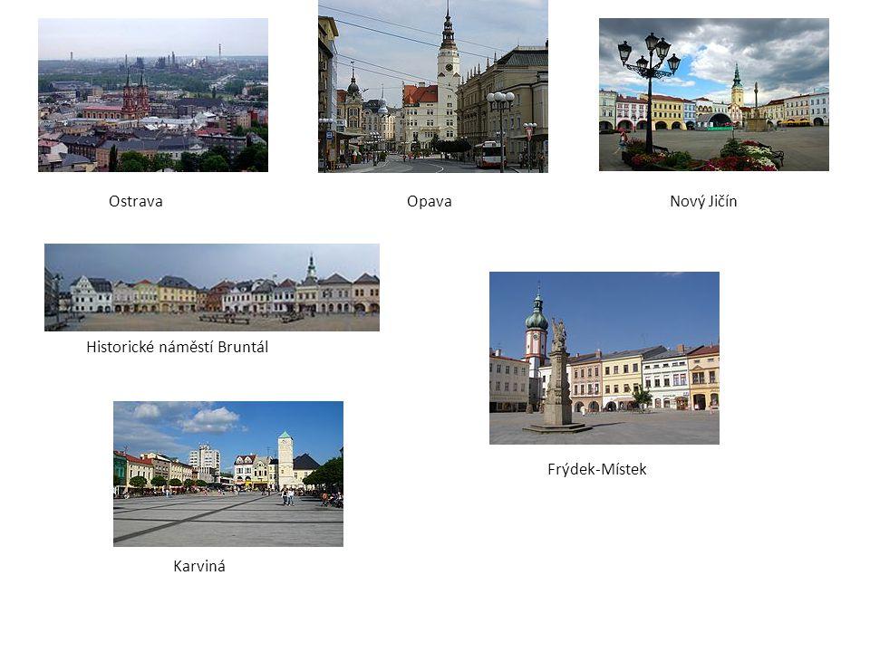 Ostrava Opava Nový Jičín Historické náměstí Bruntál Frýdek-Místek Karviná