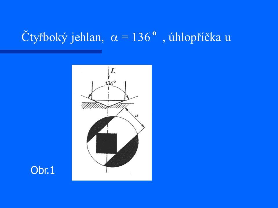 Čtyřboký jehlan,  = 136 o, úhlopříčka u Obr.1