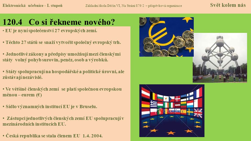 120.5 Procvičení a příklady Elektronická učebnice - I.